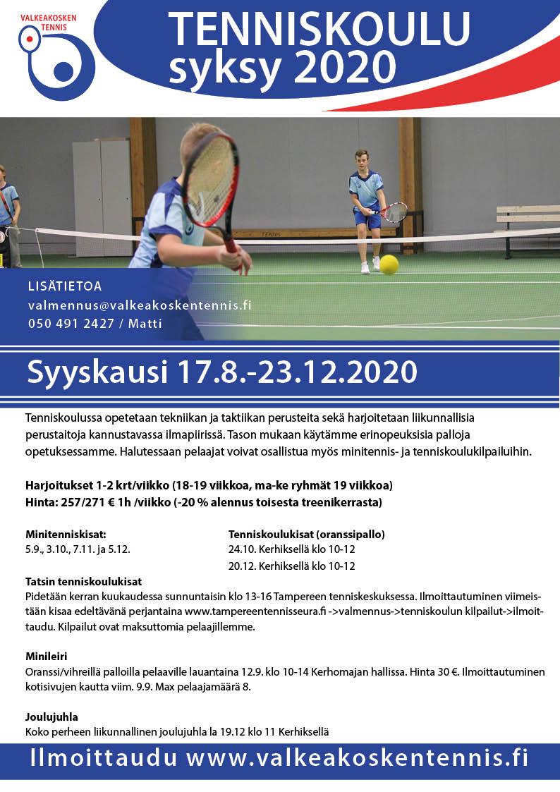 Tenniskoulu syksy 2020